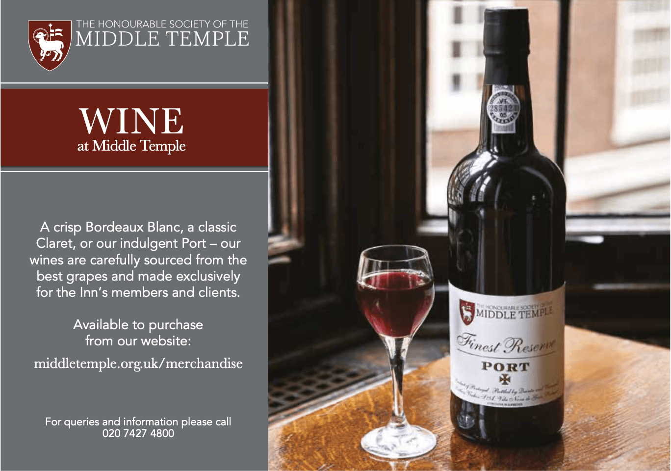 Middle Temple Wine