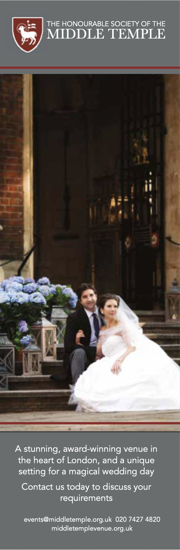 Middle Temple Wedding Venue